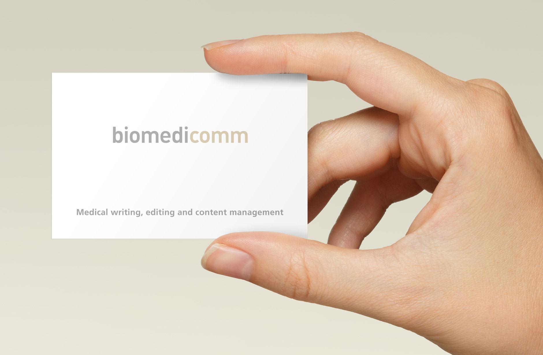 Biomedicomm Visitenkarte