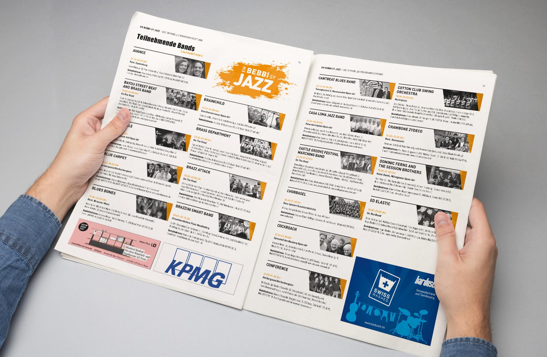 Em Bebbi sy Jazz Programmzeitung
