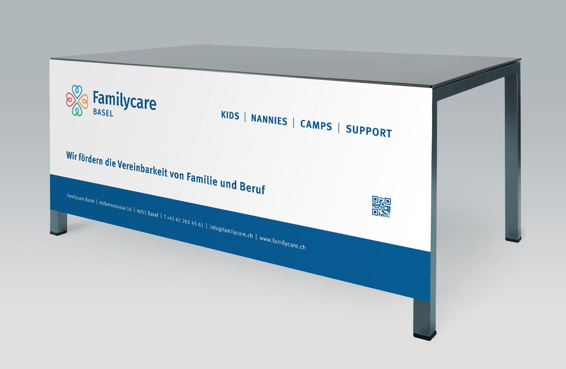 Familycare Basel Werbebanner – Newsign Grafik