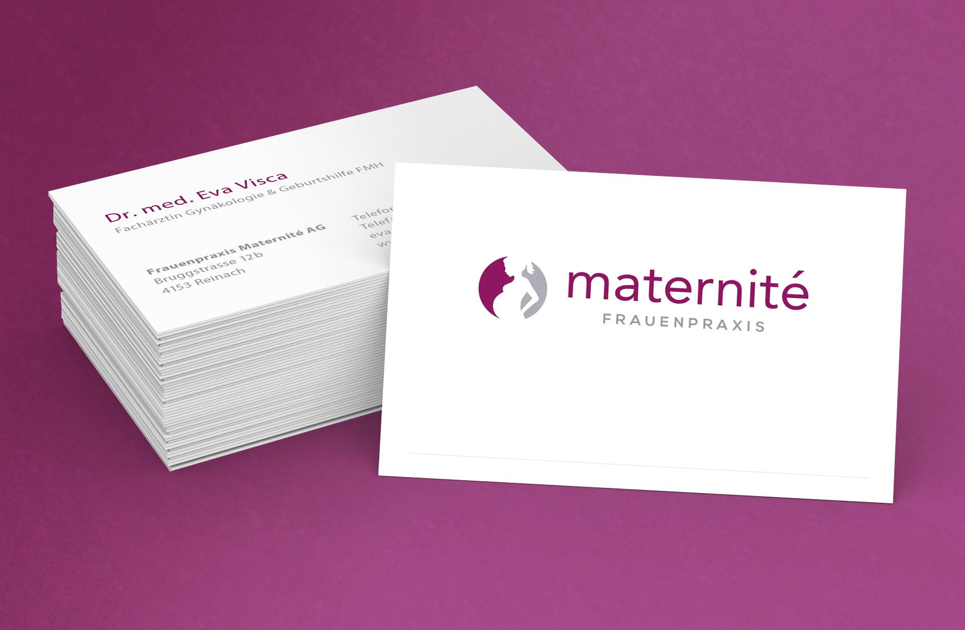 Frauenpraxis Maternité Visitenkarten