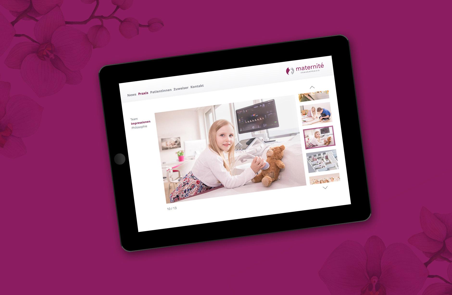 Frauenpraxis Maternité Webseite