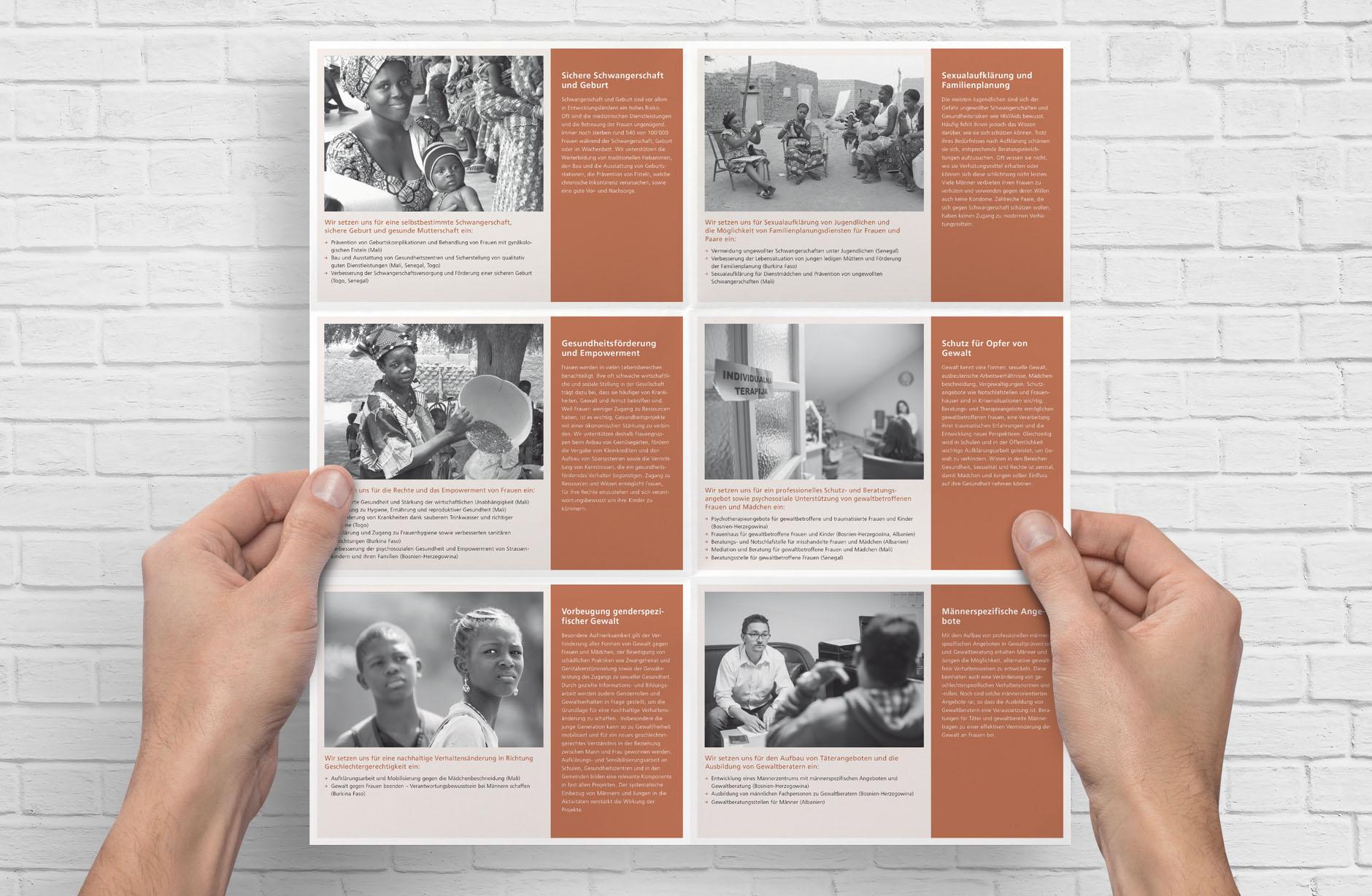 Iamaneh Schweiz Projekte Faltprospekt