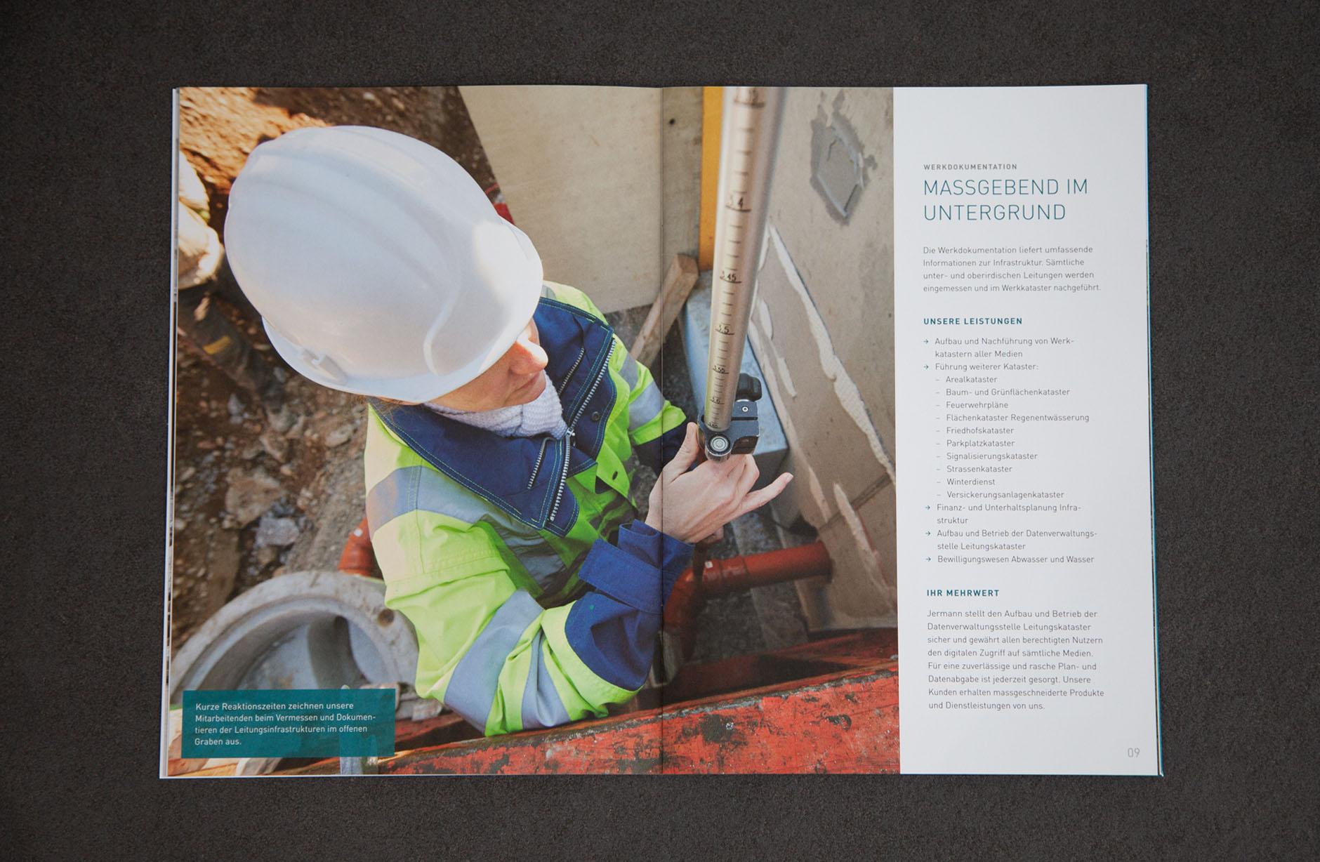 Jermann Ingenieure + Geometer AG Broschüre