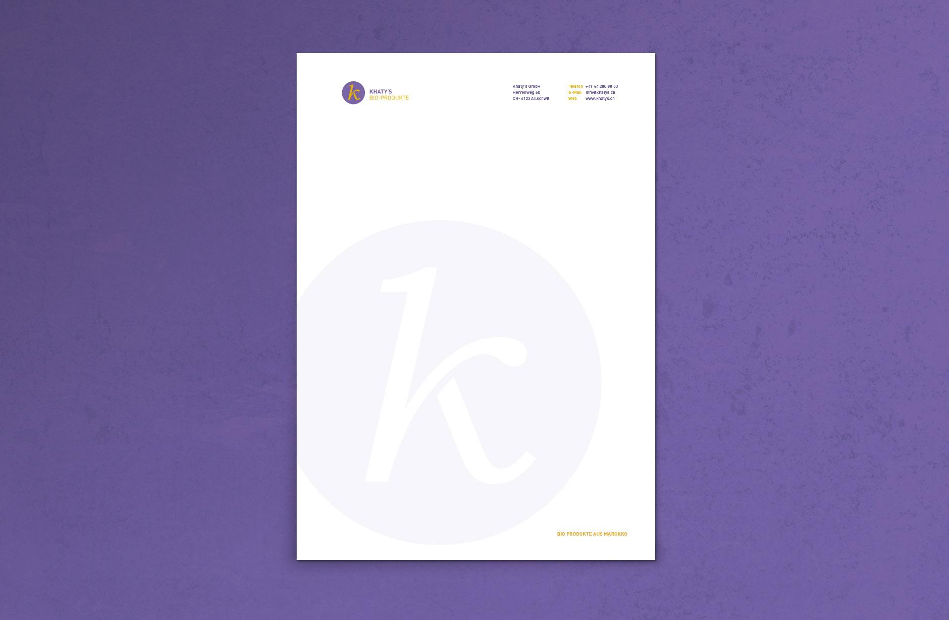 Khaty's BIO-Produkte Briefpapier