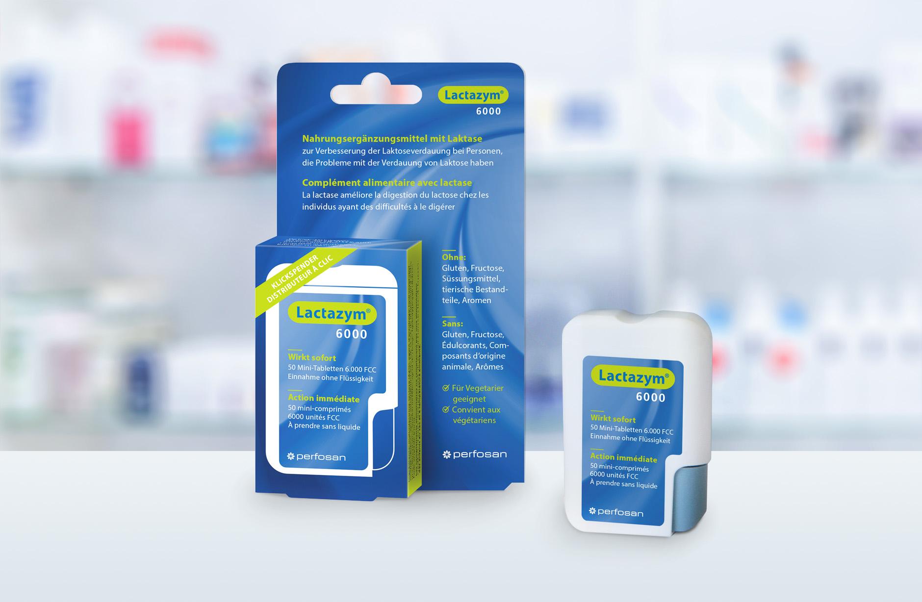 Lactazym 6000 Verpackung – Newsign Grafik