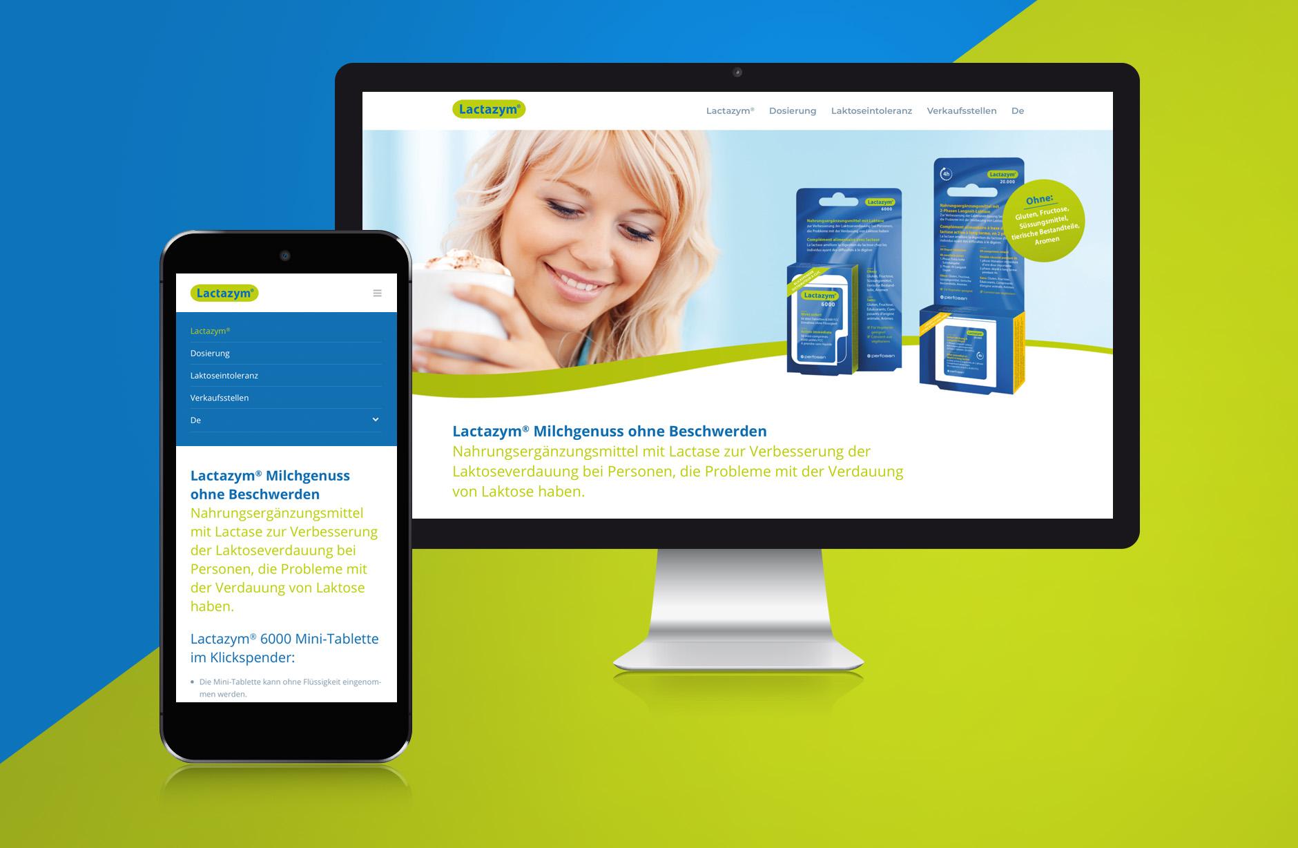 Lactazym Webseite – Newsign Grafik