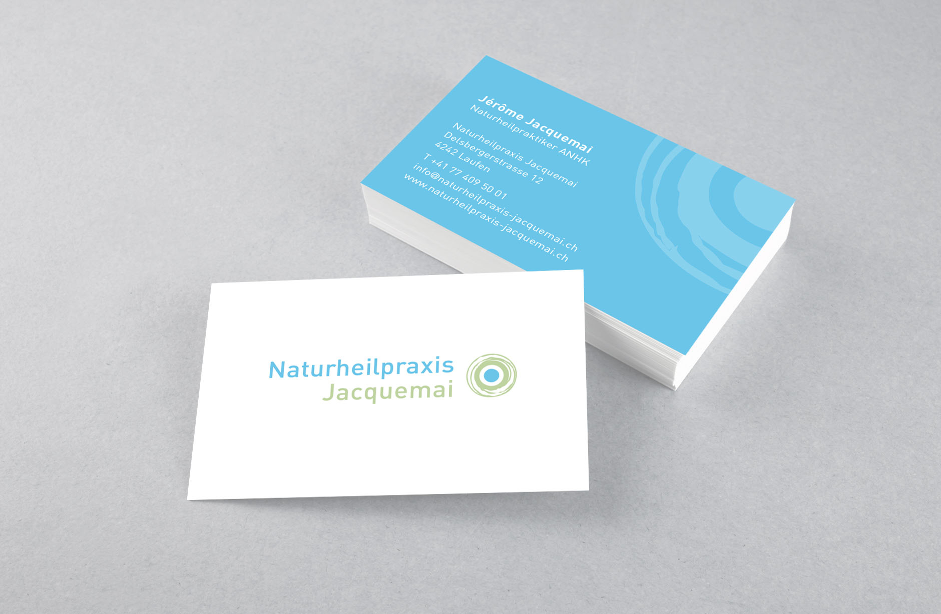 Naturheilpraxis Jacquemai Visitenkarte
