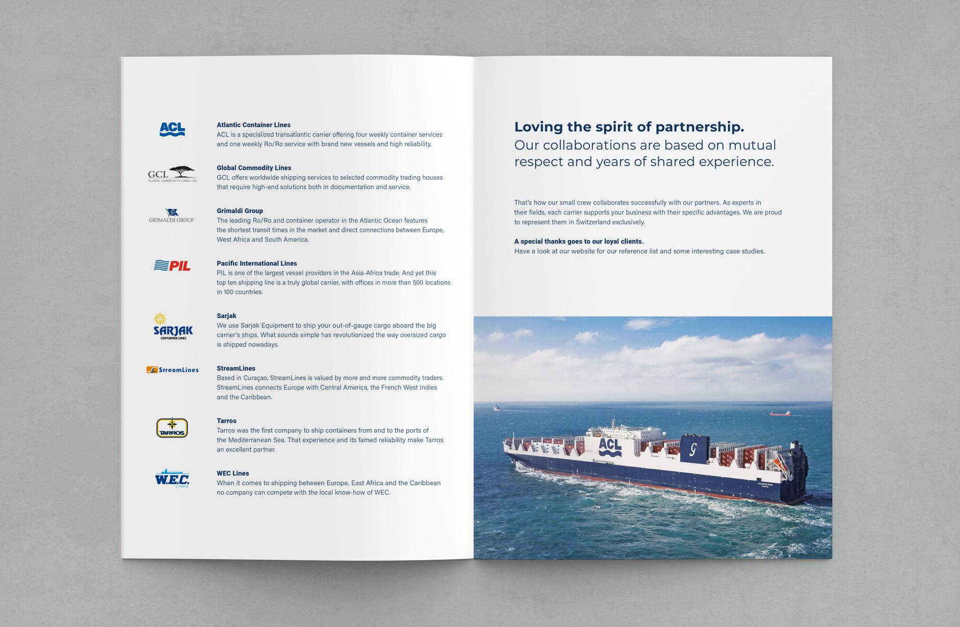 Ozean Brokerage & Shipping –Broschüre