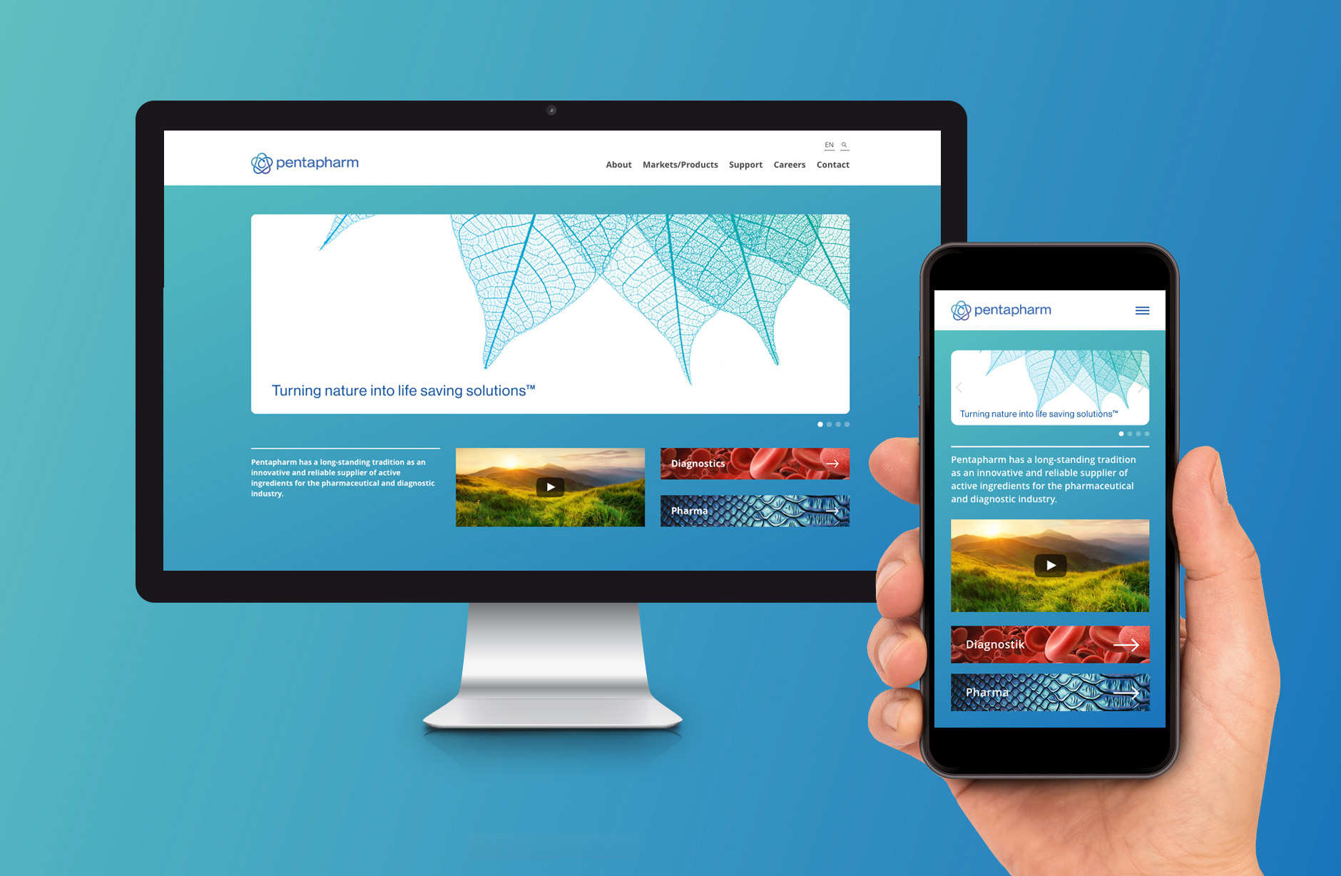Pentahparm Webseite