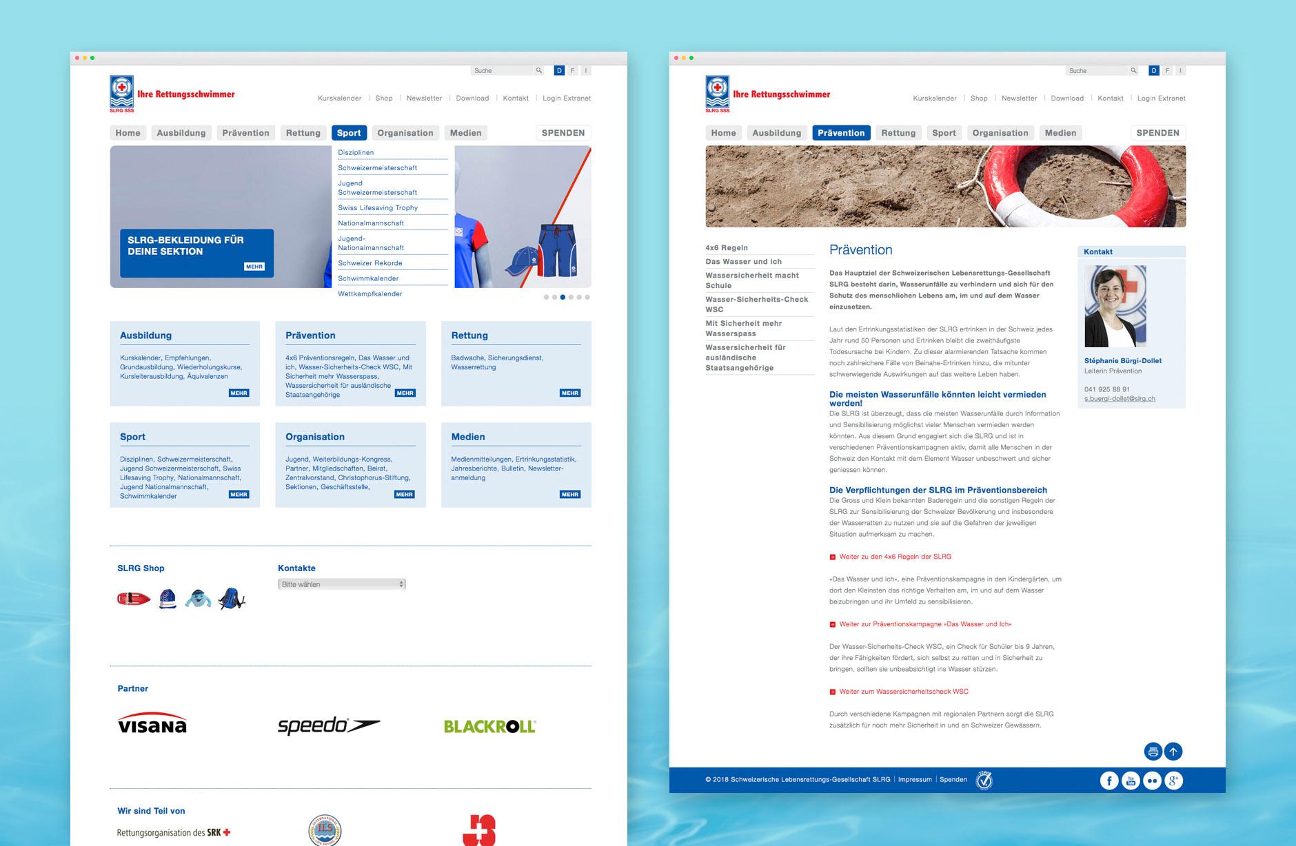 Schweizerische Lebensrettungs-Gesellschaft Webseite